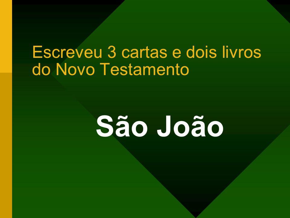 Escreveu 3 cartas e dois livros do Novo Testamento