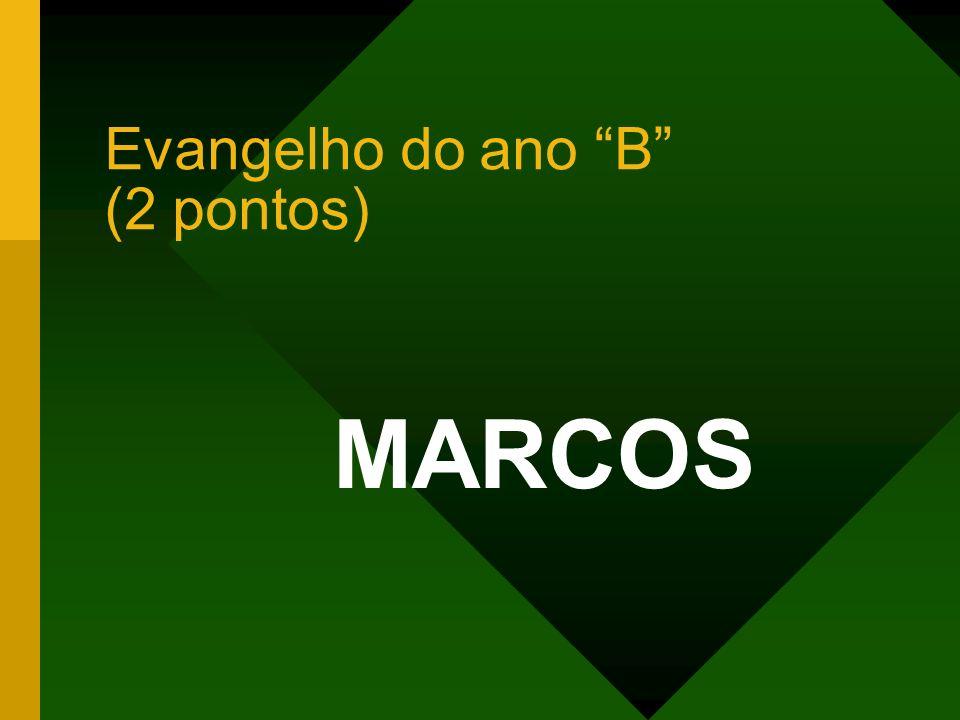 Evangelho do ano B (2 pontos) MARCOS