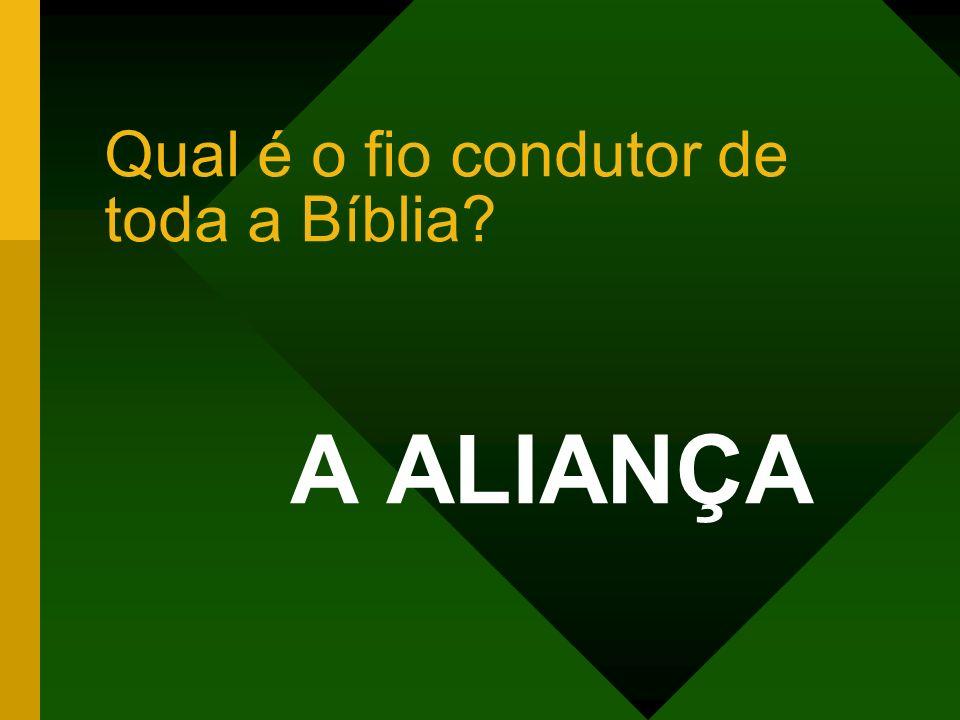 Qual é o fio condutor de toda a Bíblia? A ALIANÇA