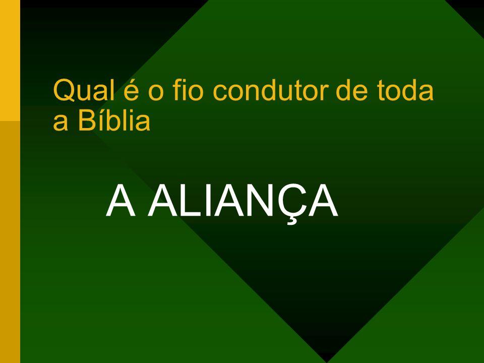 Qual é o fio condutor de toda a Bíblia A ALIANÇA