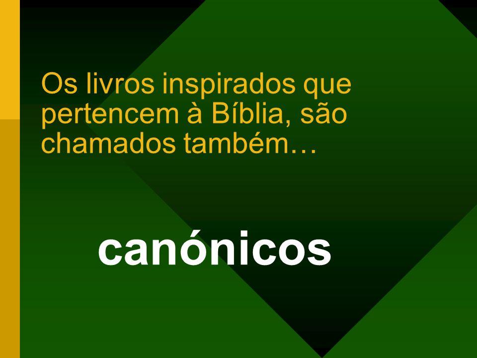 Os livros inspirados que pertencem à Bíblia, são chamados também… canónicos