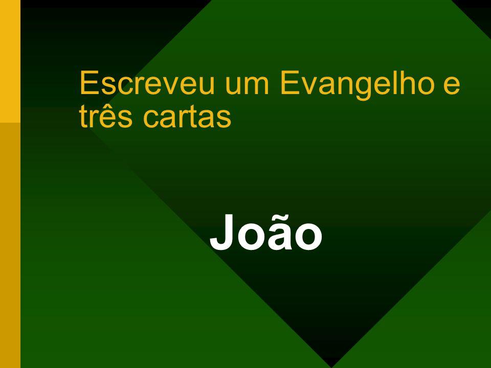 Escreveu um Evangelho e três cartas João