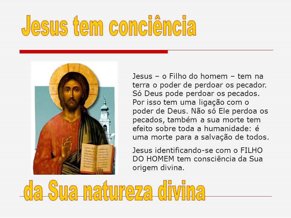 Jesus – o Filho do homem – tem na terra o poder de perdoar os pecador. Só Deus pode perdoar os pecados. Por isso tem uma ligação com o poder de Deus.