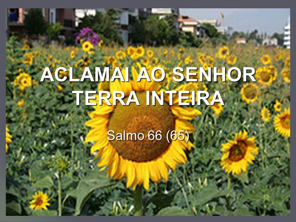 ACLAMAI AO SENHOR TERRA INTEIRA Salmo 66 (65)