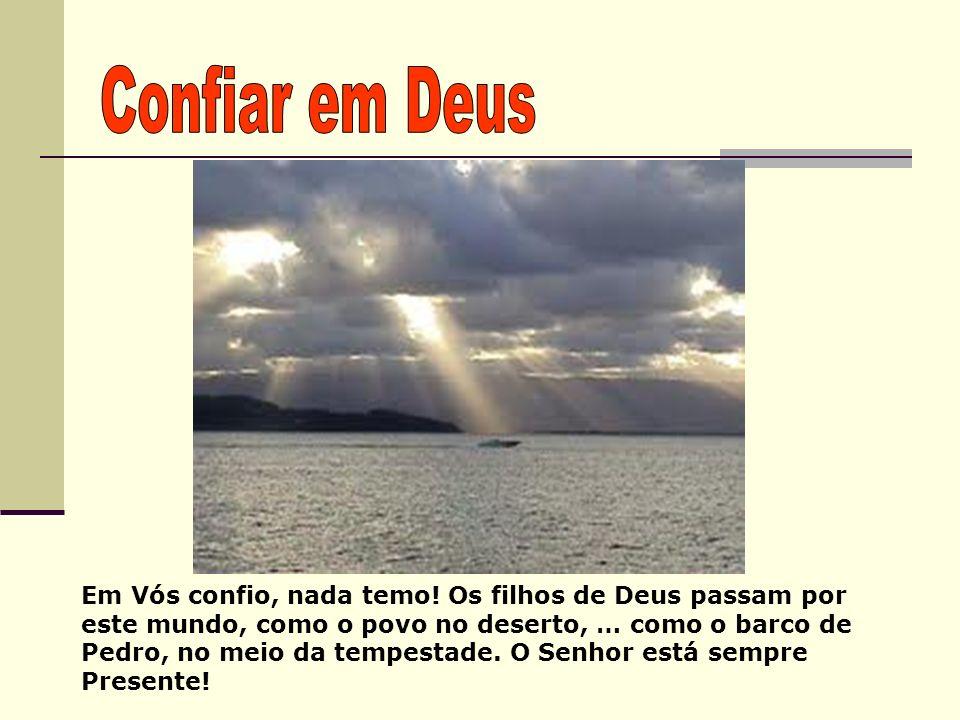 Em Vós confio, nada temo! Os filhos de Deus passam por este mundo, como o povo no deserto, … como o barco de Pedro, no meio da tempestade. O Senhor es