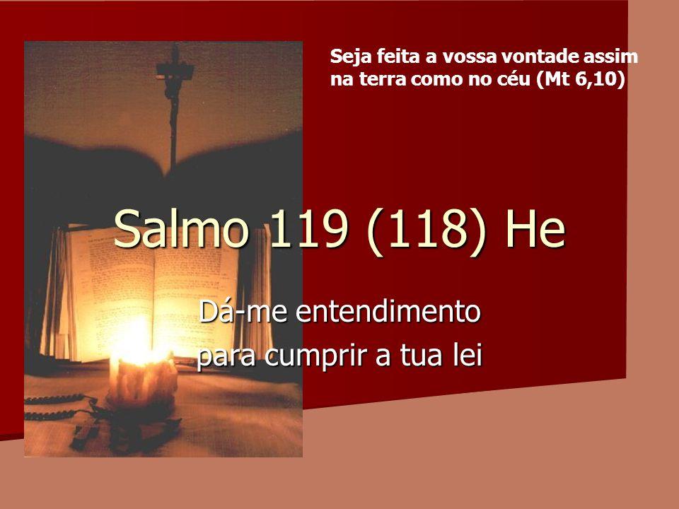 Salmo 119 (118) He Dá-me entendimento para cumprir a tua lei Seja feita a vossa vontade assim na terra como no céu (Mt 6,10)