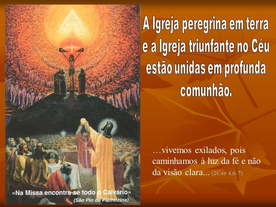 …vivemos exilados, pois caminhamos à luz da fé e não da visão clara... (2Cor 4,6-7)