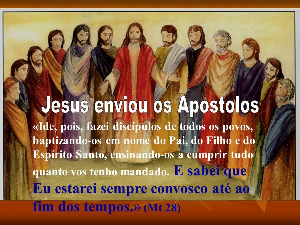 «Ide, pois, fazei discípulos de todos os povos, baptizando-os em nome do Pai, do Filho e do Espírito Santo, ensinando-os a cumprir tudo quanto vos ten