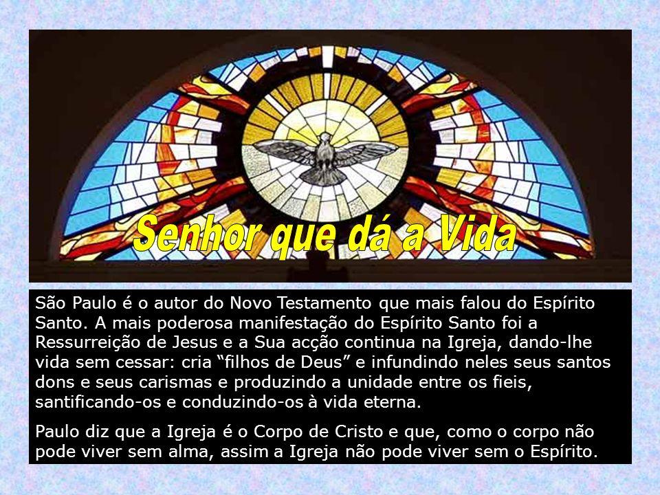 São Paulo é o autor do Novo Testamento que mais falou do Espírito Santo. A mais poderosa manifestação do Espírito Santo foi a Ressurreição de Jesus e