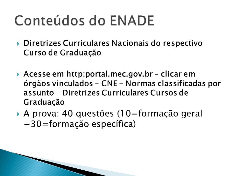 Diretrizes Curriculares Nacionais do respectivo Curso de Graduação Acesse em http:portal.mec.gov.br – clicar em órgãos vinculados – CNE – Normas class