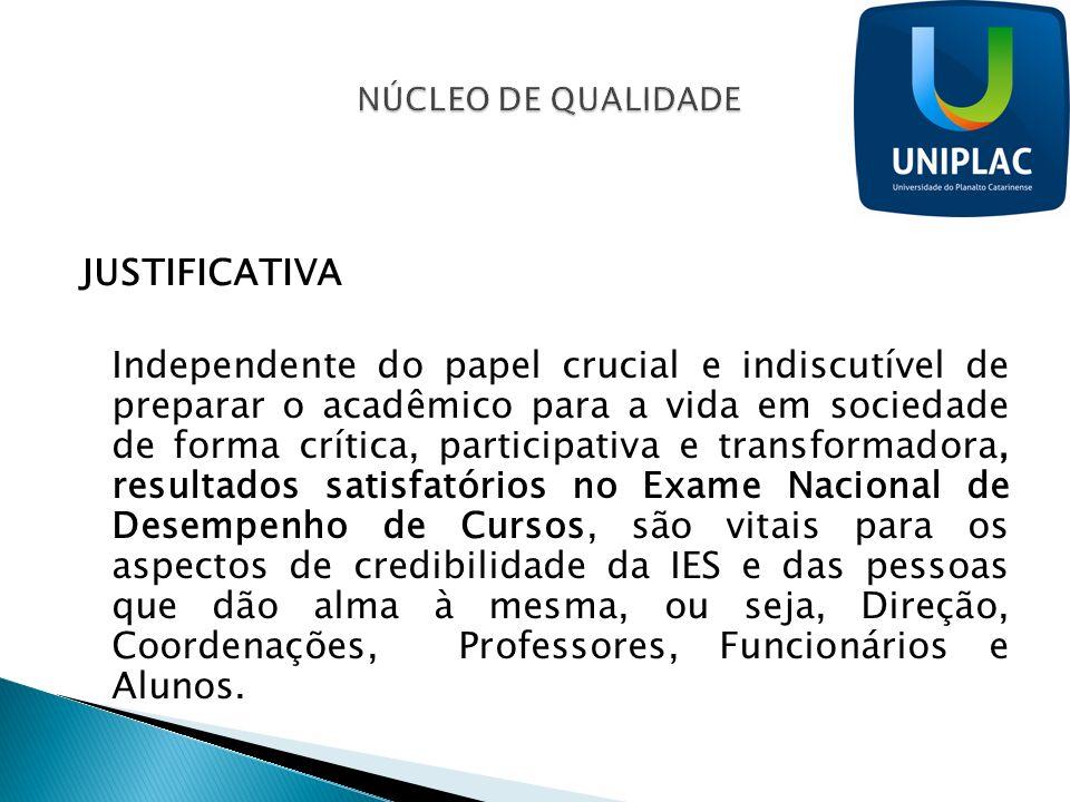 JUSTIFICATIVA Independente do papel crucial e indiscutível de preparar o acadêmico para a vida em sociedade de forma crítica, participativa e transfor