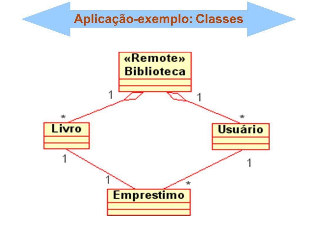 Aplicação-exemplo: Classes