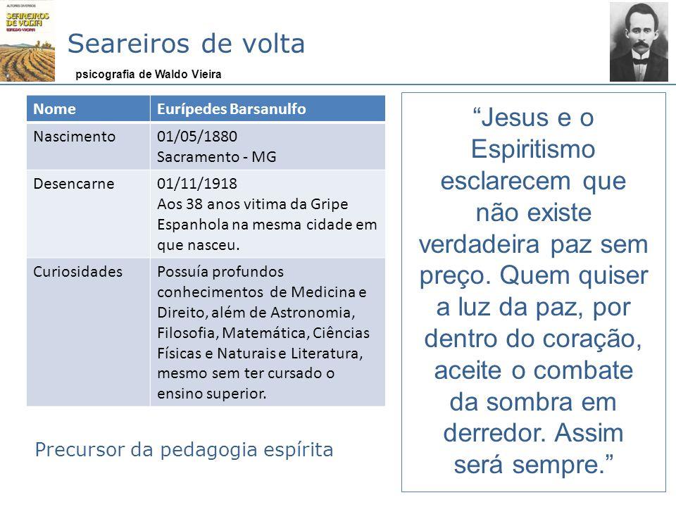 Seareiros de volta Jesus e o Espiritismo esclarecem que não existe verdadeira paz sem preço. Quem quiser a luz da paz, por dentro do coração, aceite o