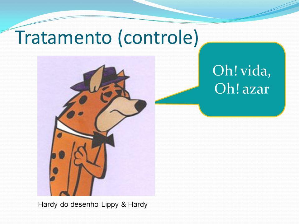 Tratamento (controle) Hardy do desenho Lippy & Hardy Oh! vida, Oh! azar