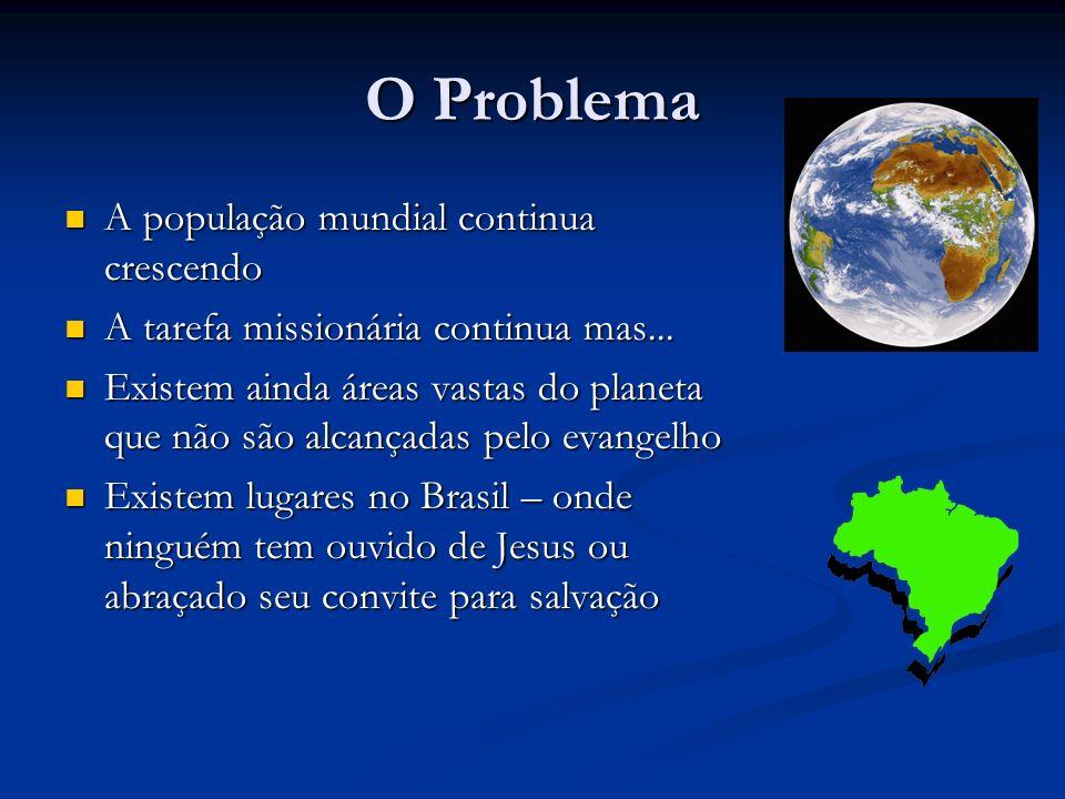 O Problema A população mundial continua crescendo A população mundial continua crescendo A tarefa missionária continua mas... A tarefa missionária con