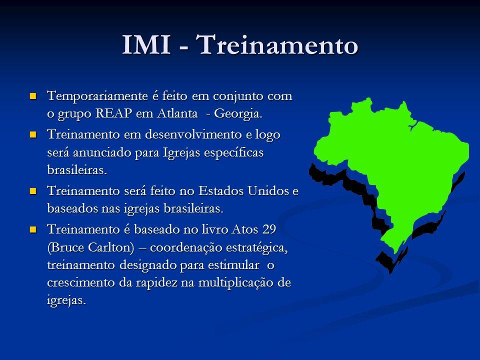 IMI - Treinamento Temporariamente é feito em conjunto com o grupo REAP em Atlanta - Georgia. Temporariamente é feito em conjunto com o grupo REAP em A