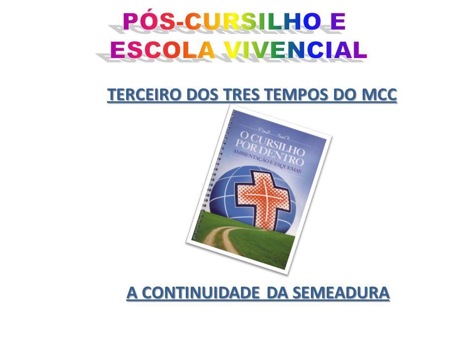 TERCEIRO DOS TRES TEMPOS DO MCC A CONTINUIDADE DA SEMEADURA