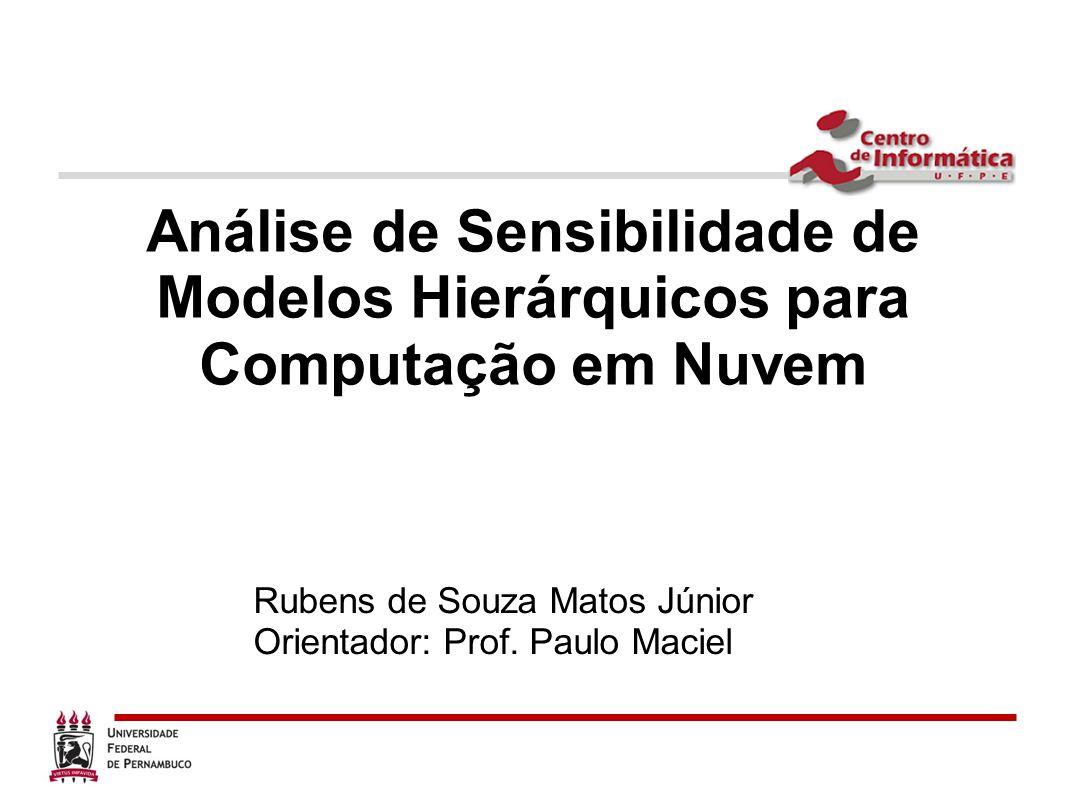Análise de Sensibilidade de Modelos Hierárquicos para Computação em Nuvem Rubens de Souza Matos Júnior Orientador: Prof. Paulo Maciel