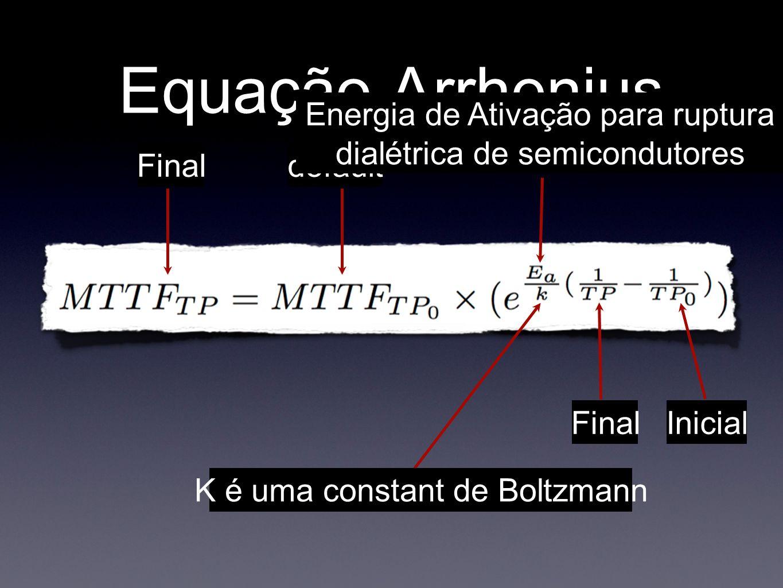 Equação Arrhenius Finaldefault Final Inicial Energia de Ativação para ruptura dialétrica de semicondutores Final K é uma constant de Boltzmann