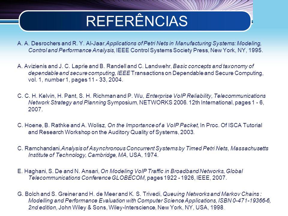 LOGO REFERÊNCIAS A. A. Desrochers and R. Y.