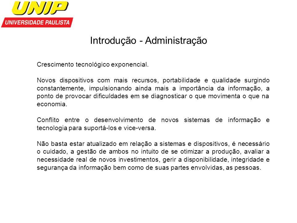Introdução - Administração Somente após a revolução industrial a administração passou a ter um crescimento notável.