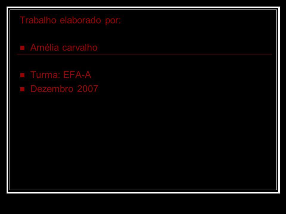Trabalho elaborado por: Amélia carvalho Turma: EFA-A Dezembro 2007