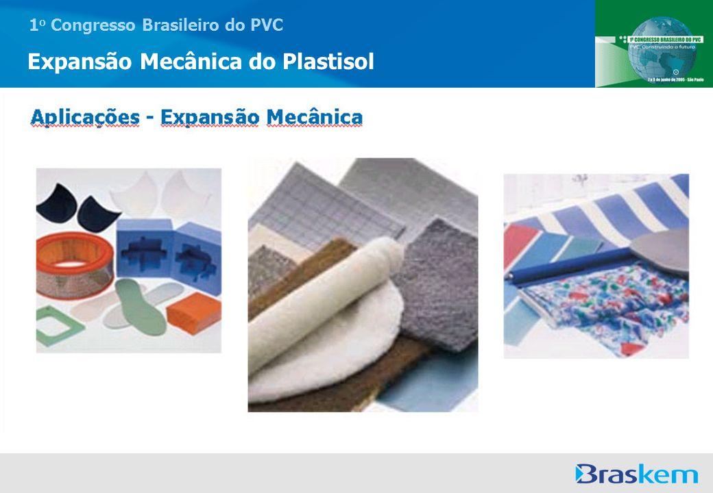 1 o Congresso Brasileiro do PVC Expansão Mecânica do Plastisol