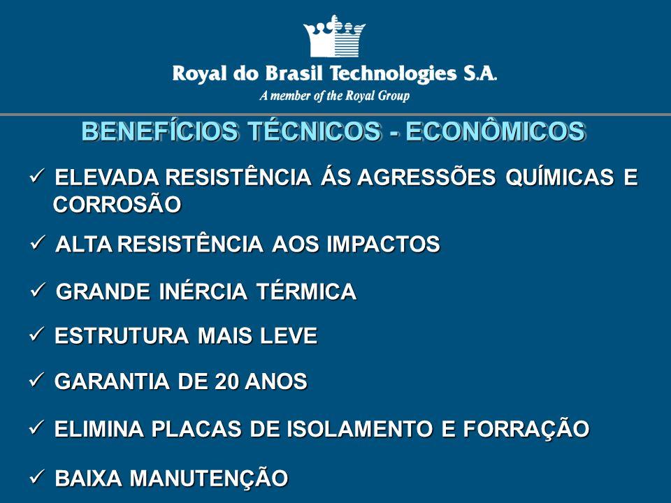 BENEFÍCIOS TÉCNICOS - ECONÔMICOS BENEFÍCIOS TÉCNICOS - ECONÔMICOS ELIMINA PLACAS DE ISOLAMENTO E FORRAÇÃO ELIMINA PLACAS DE ISOLAMENTO E FORRAÇÃO ESTR