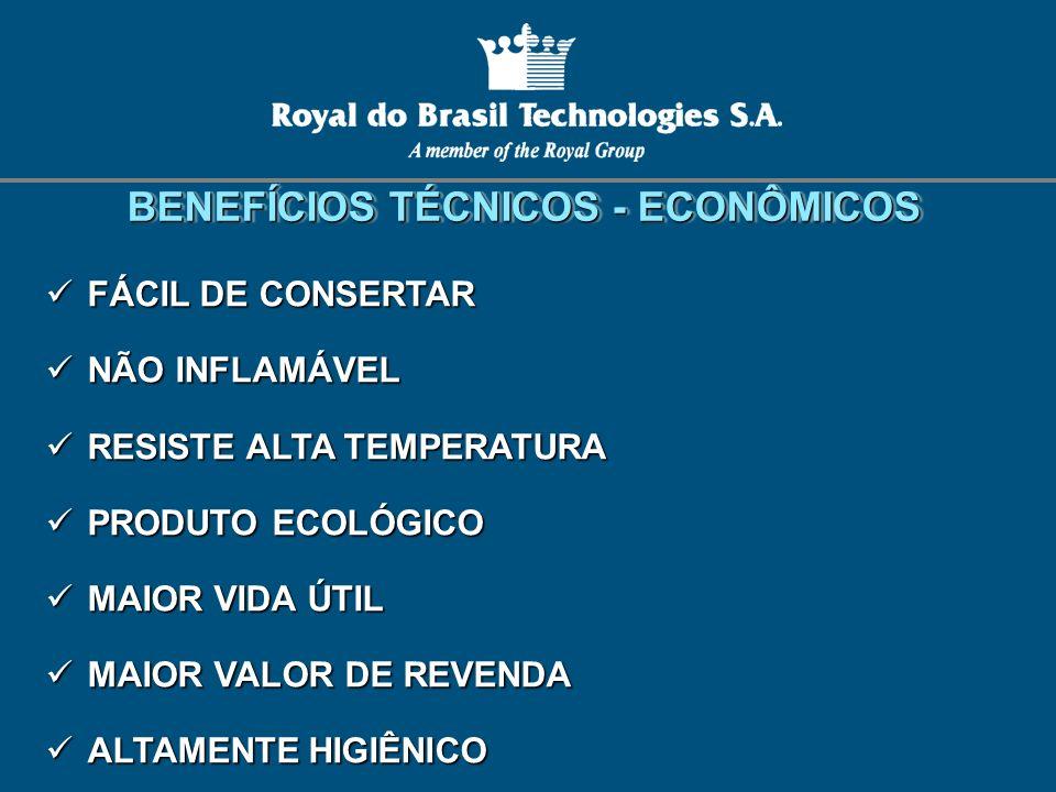 FÁCIL DE CONSERTAR FÁCIL DE CONSERTAR NÃO INFLAMÁVEL NÃO INFLAMÁVEL RESISTE ALTA TEMPERATURA RESISTE ALTA TEMPERATURA PRODUTO ECOLÓGICO PRODUTO ECOLÓG