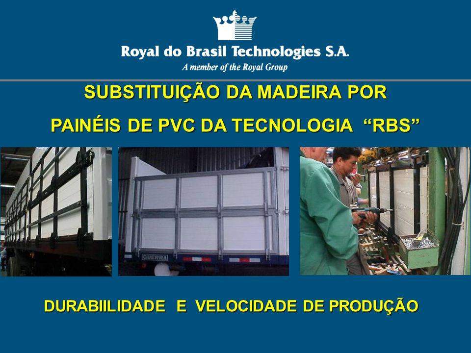 SUBSTITUIÇÃO DA MADEIRA POR PAINÉIS DE PVC DA TECNOLOGIA RBS DURABIILIDADE E VELOCIDADE DE PRODUÇÃO