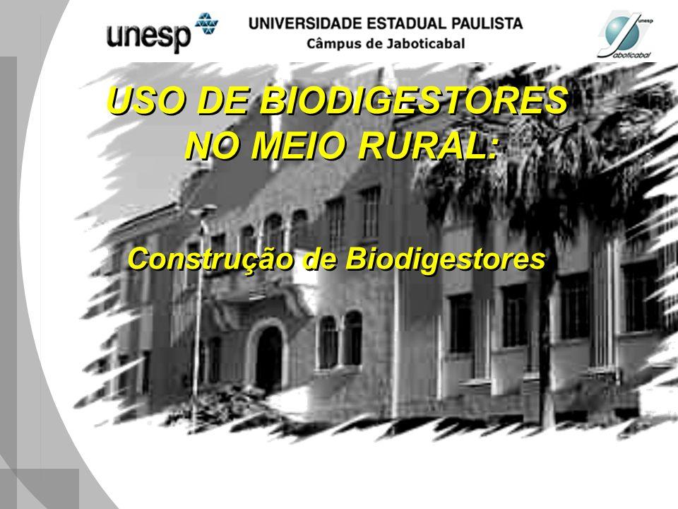 USO DE BIODIGESTORES NO MEIO RURAL: Construção de Biodigestores USO DE BIODIGESTORES NO MEIO RURAL: Construção de Biodigestores