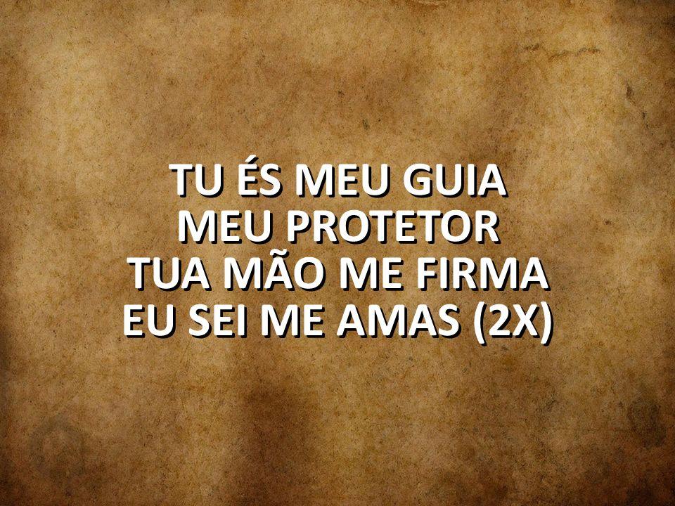 TU ÉS MEU GUIA MEU PROTETOR TUA MÃO ME FIRMA EU SEI ME AMAS (2X)