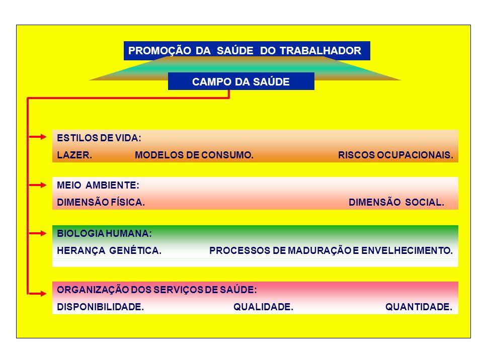 PROMOÇÃO DA SAÚDE DO TRABALHADOR ESTILOS DE VIDA: LAZER.