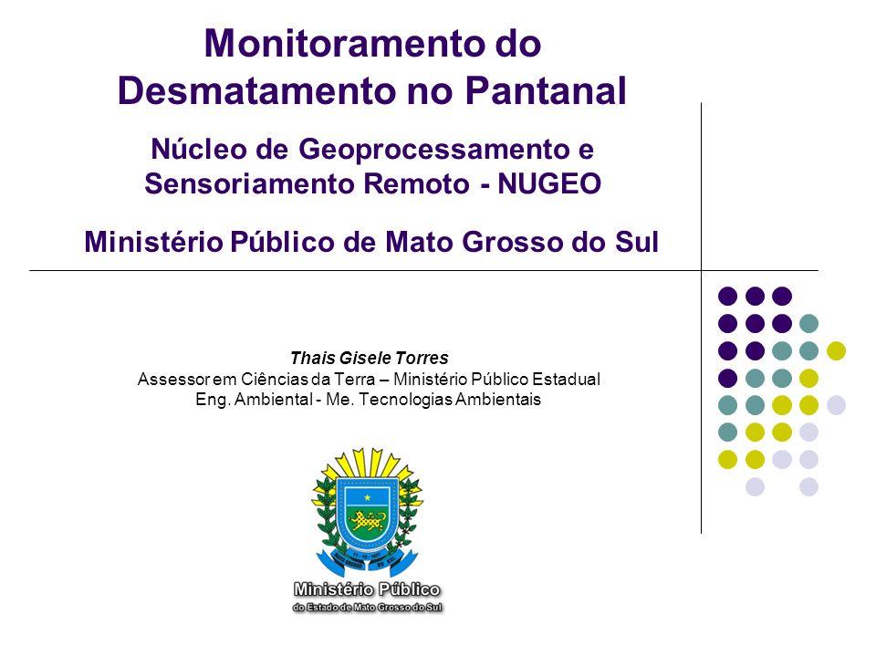 Monitoramento do Desmatamento no Pantanal Thais Gisele Torres Assessor em Ciências da Terra – Ministério Público Estadual Eng. Ambiental - Me. Tecnolo