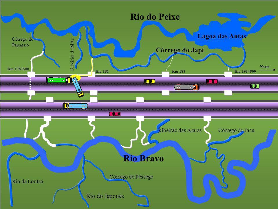 Rio do Peixe Lagoa das Antas Córrego do Japi Ribeirão da Mata Córrego do Papagaio Rio Bravo Rio do Japonês Córrego do Jacu Córrego do Pêssego Ribeirão