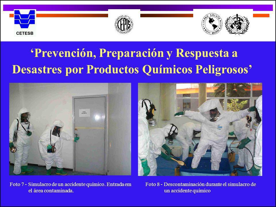 Prevención, Preparación y Respuesta a Desastres por Productos Químicos Peligrosos Foto 7 - Simulacro de un accidente químico. Entrada em el área conta