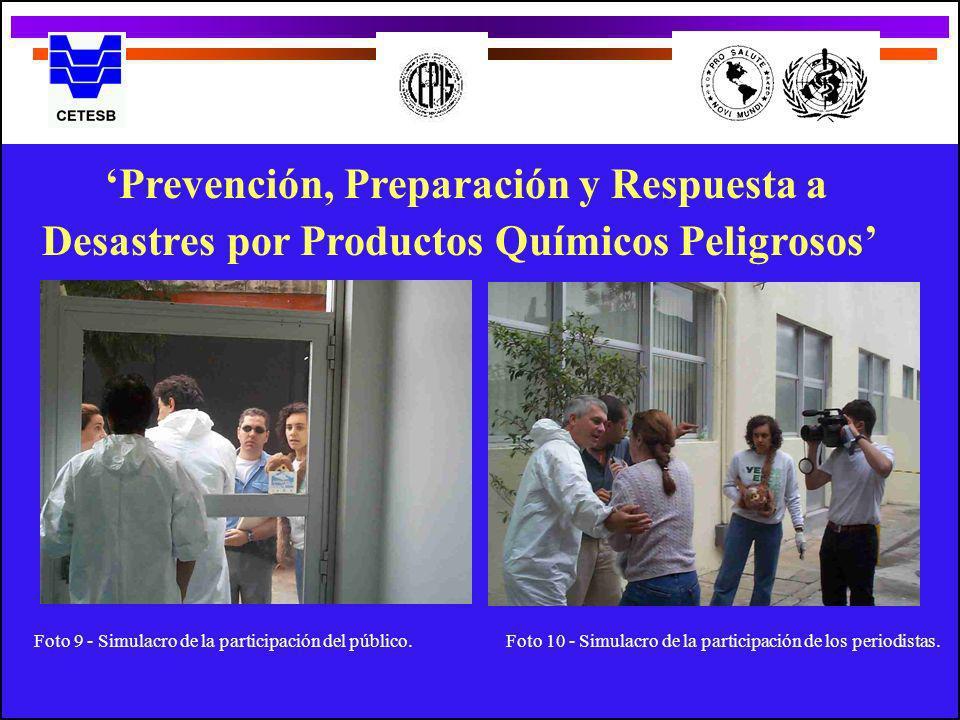 Prevención, Preparación y Respuesta a Desastres por Productos Químicos Peligrosos Foto 9 - Simulacro de la participación del público.Foto 10 - Simulac