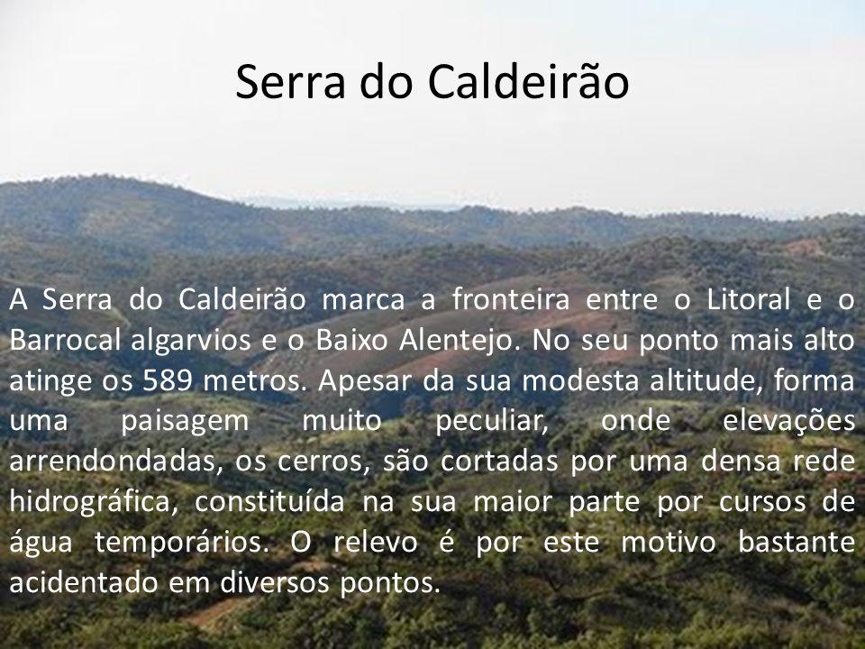 Serra do Caldeirão A Serra do Caldeirão marca a fronteira entre o Litoral e o Barrocal algarvios e o Baixo Alentejo.