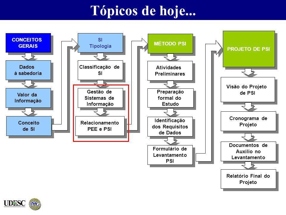 Tópicos de hoje... SI Tipologia SI Tipologia Classificação de SI Classificação de SI Gestão de Sistemas de Informação Gestão de Sistemas de Informação