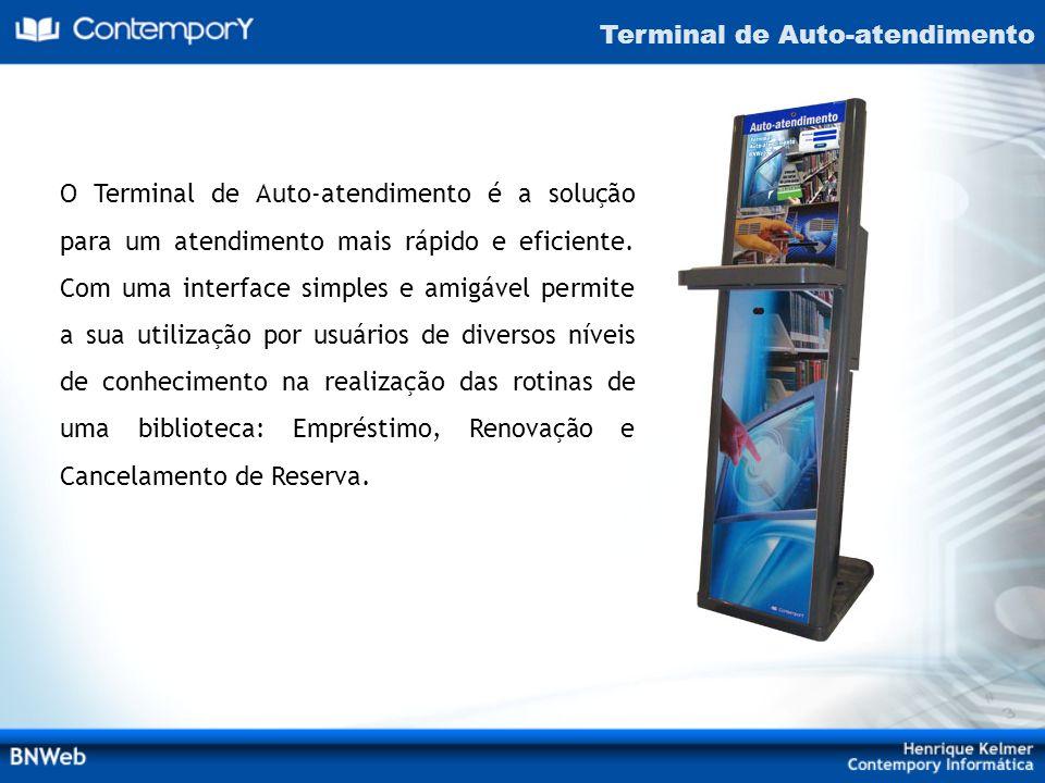 O Terminal de Auto-atendimento é a solução para um atendimento mais rápido e eficiente. Com uma interface simples e amigável permite a sua utilização
