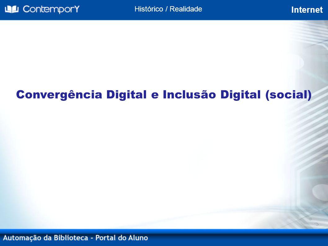 Convergência Digital e Inclusão Digital (social) Histórico / Realidade Internet