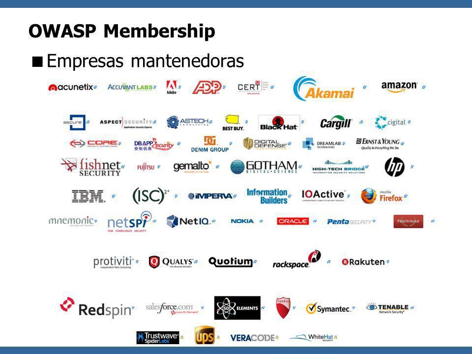 OWASP OWASP Membership Empresas mantenedoras
