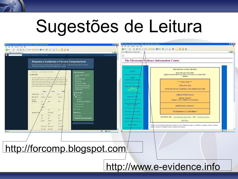 Sugestões de Leitura http://forcomp.blogspot.com http://www.e-evidence.info