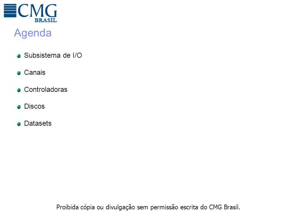 Proibida cópia ou divulgação sem permissão escrita do CMG Brasil. Agenda Subsistema de I/O Canais Controladoras Discos Datasets