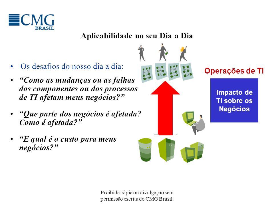 Proibida cópia ou divulgação sem permissão escrita do CMG Brasil. Aplicabilidade no seu Dia a Dia Os desafios do nosso dia a dia: Impacto de TI sobre