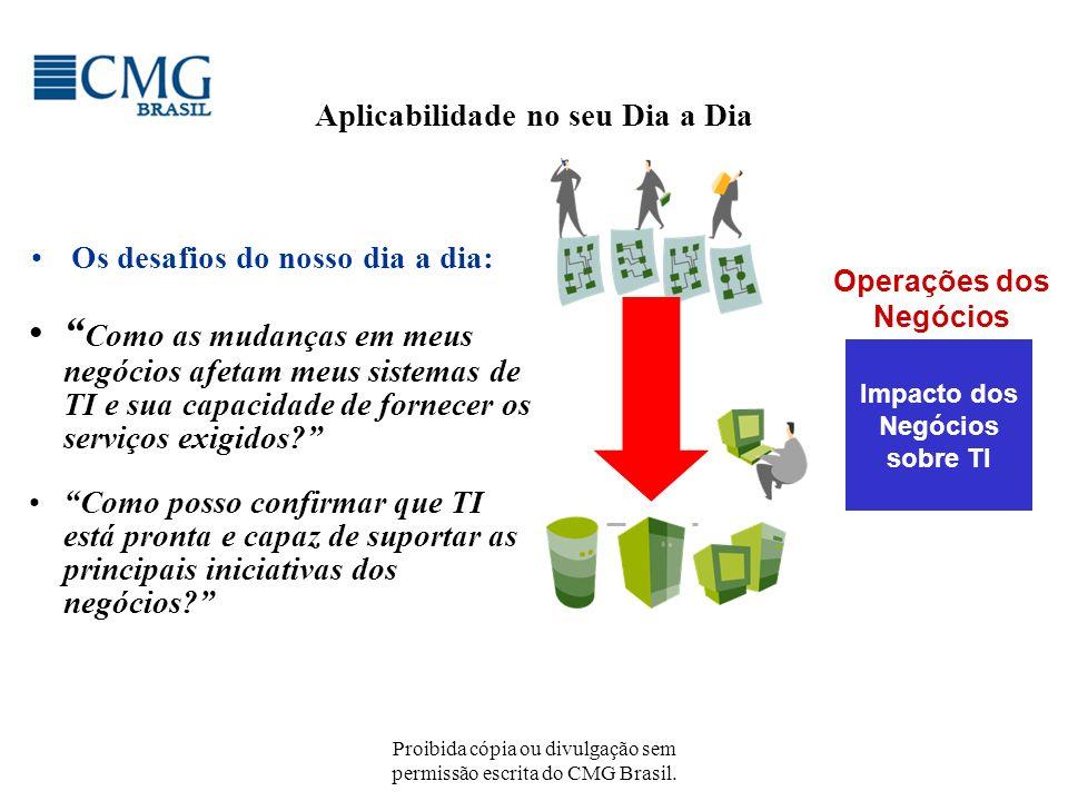 Proibida cópia ou divulgação sem permissão escrita do CMG Brasil. Aplicabilidade no seu Dia a Dia Os desafios do nosso dia a dia: Impacto dos Negócios