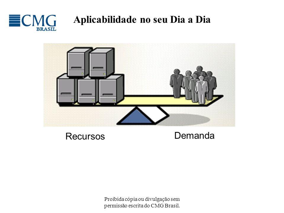 Proibida cópia ou divulgação sem permissão escrita do CMG Brasil. Demanda Recursos Aplicabilidade no seu Dia a Dia