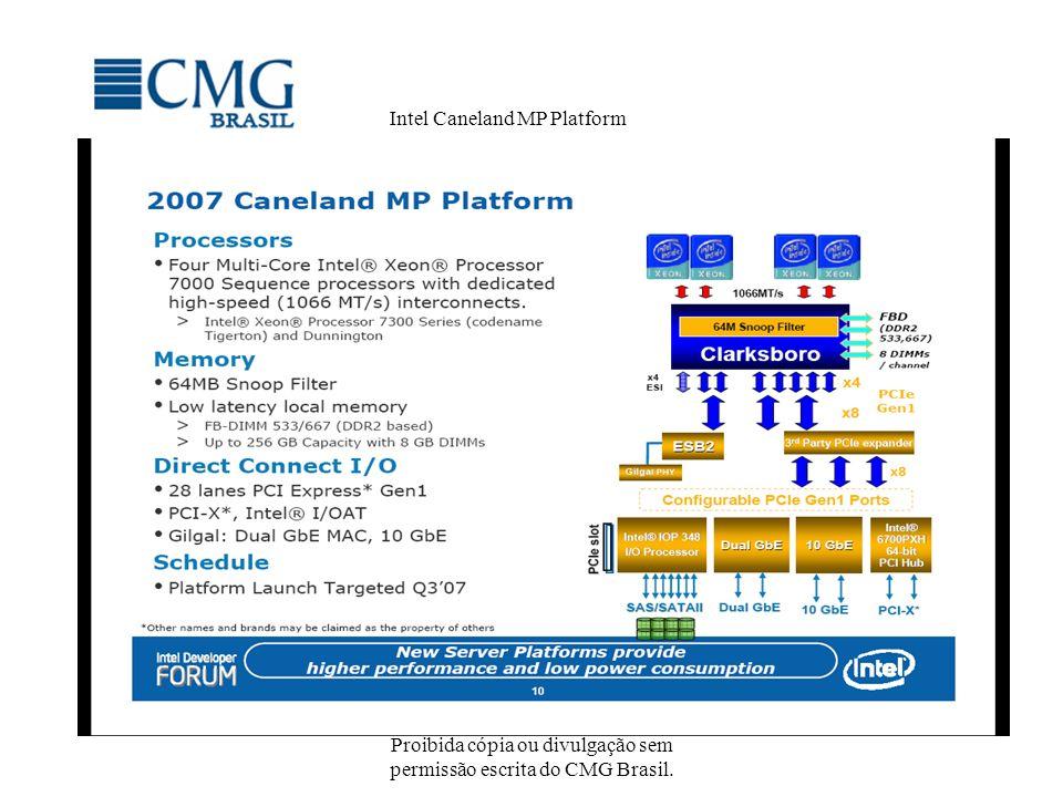 Proibida cópia ou divulgação sem permissão escrita do CMG Brasil. Intel Caneland MP Platform