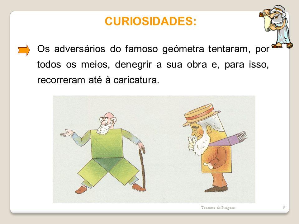 CURIOSIDADES: Os adversários do famoso geómetra tentaram, por todos os meios, denegrir a sua obra e, para isso, recorreram até à caricatura. Teorema d
