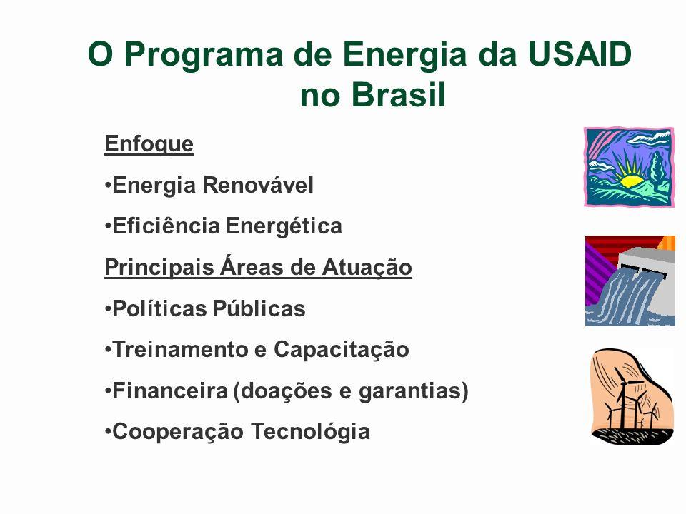 Mudança Climática PROTEÇÃO DO MEIO-AMBIENTE E DA BIODIVERSIDADE ENERGIA LIMPA E EFICIENTE/ ENERGIAS RENOVÁVEIS PREVENÇÃO AO HIV/AIDS E TUBERCULOSE JOVENS EM RISCO/TRABALHO INFANTIL/ ABISMO DIGITAL Programas da USAID no Brasil Saúde